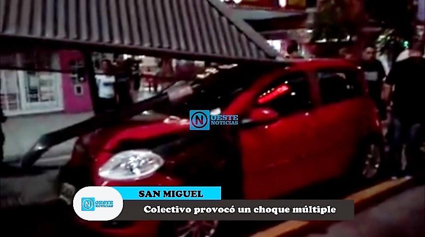 SAN MIGUEL MIRÁ EL VIDEO Un Colectivo Provocó Un Choque Múltiple - San miguel car show 2018